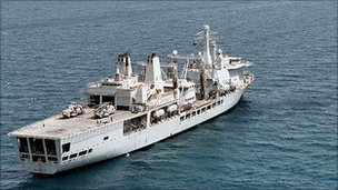 RFA Fort Victoria. Copyright: Ministry of Defence