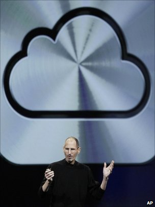 Steve Jobs and iCloud symbol