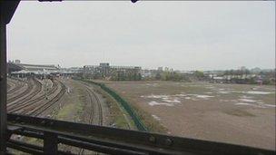Land alongside Temple Meads railway station