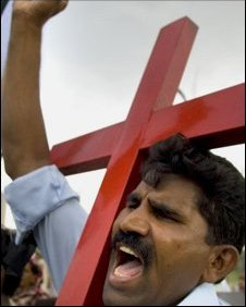 Christian protest in Gojra, Pakistan