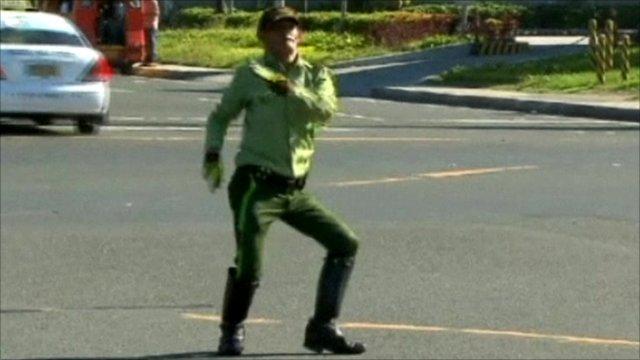 Ramiro the dancing policeman