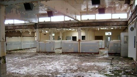Main kitchen in the former North Wales Hospital