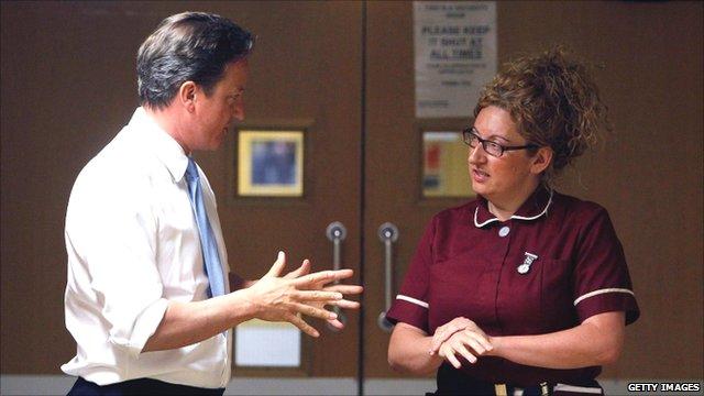 David Cameron visits University College Hospital