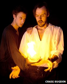 Arthur Darvill and Paul Hilton in Doctor Faustus