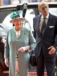 The Queen and Prince Philip at the Wales Millennium Centre