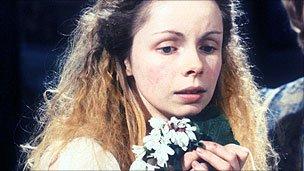Lalla Ward as Ophelia in Hamlet, BBC 1980