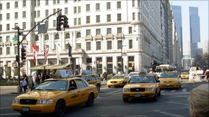 Yellow taxi cabs, New York