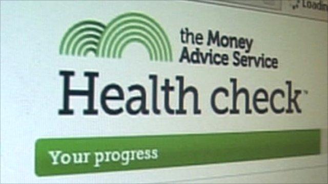 Health check web page