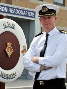 Commodore Paul Chivers OBE Royal Navy, Commanding Officer HMS Heron