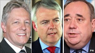 Peter Robinson, Carwyn Jones and Alex Salmond