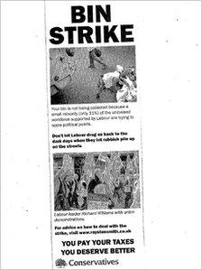 Bin strike leaflet