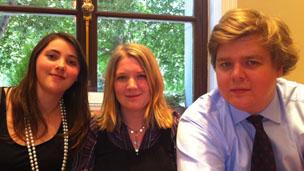 Sian Cleary, Marie Kemplay and Jon Boulton