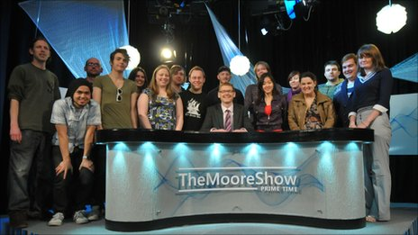 Production team of The Moore Show 