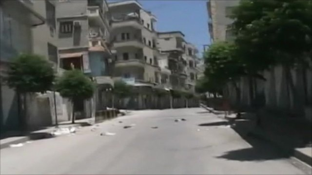 Deserted streets in Jisr al-Shughur
