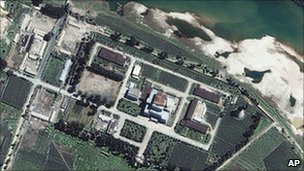 File image of Yongbyon reactor from February 2002