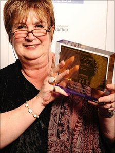 Jenni Murray with Sony gold award