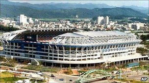 Undated photo of Daejeon world cup stadium in Daejeon, South Korea