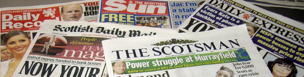 Scottish newspaper headlines