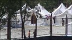 Refugee camp on Turkish/Syrian border