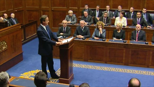Cameron addresses Assembly