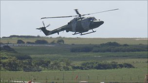 Live firing exercise at  Castlemartin Range