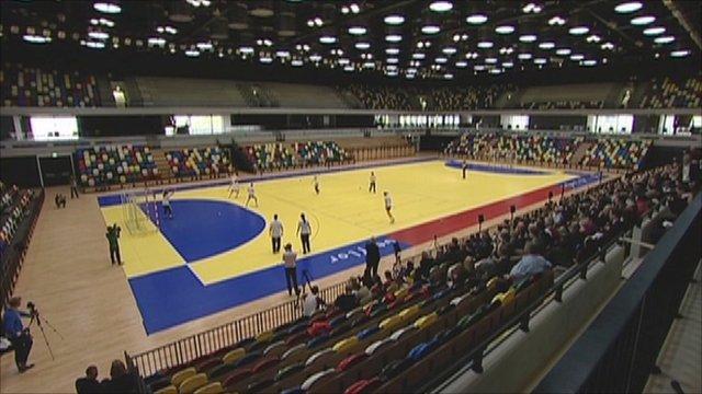 The new Handball Arena at the London 2012 Olympic Park