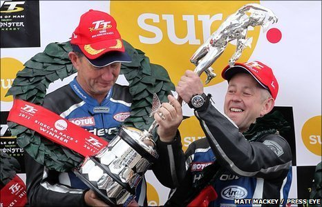 John Holden and Andrew Winkle secured their first sidecar TT win