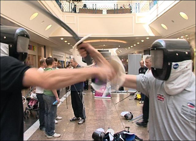 Valiant shoppers draw swords with Olympic hopefuls