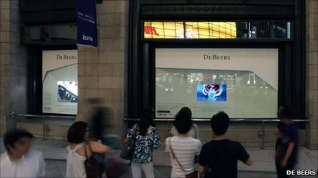 De Beers 3D adverts