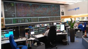 picture of the screens at the national grid