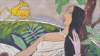 Untitled acrylic on canvas by MF Husain