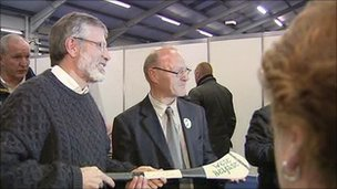 Gerry Adams and Paul Maskey