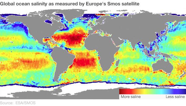 Ocean salinity map (Esa)