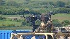 Live firing exercise at Castlemartin