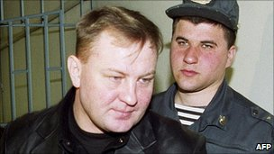 Yuri Budanov in court, 22 Apr 03