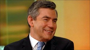 Gordon Brown interviewed by the BBC in 2007