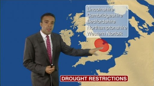 Liam Dutton talks about drought in eastern England