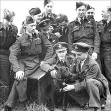 Guy Gibson and the Dambusters with 'Nigger'