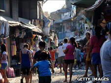 A shanty town in Manila