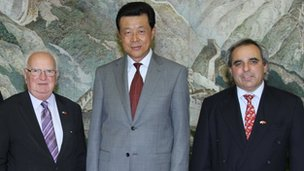 Senators Le Sueur and Cohen with the Chinese Ambassador to Britain, His Excellency Liu Xiaoming