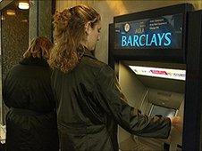 Barclays cash machine