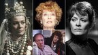 Janet Suzman (top middle) as she was seen in Macneth (left), Hedda Gabler (right) and The Singing Detective (bottom middle)