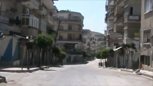 Deserted streets in Jisr al-Shughour