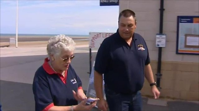 Jean and Paul Frost at the Rhyl lifeboat station