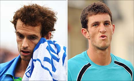 Andy Murray and James Ward