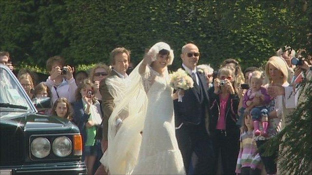 Lily Allen arrives at her wedding
