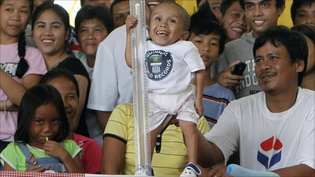 Junrey Balawing, declared the world's shortest man by the Guinness Book of World Records