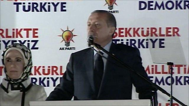 Turkey's Islamic prime minister Recep Tayyip Erdogan