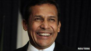 Peru's President-elect, Ollanta Humala, 10 June 2011