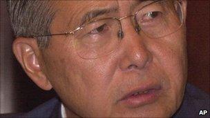 Former Peruvian president, Alberto Fujimori, 13 April 2000